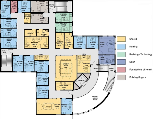 College building plans college floor massachusetts state for Healthy house plans