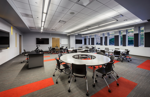 Classroom Design Concept ~ Johnson center for science and community life tradeline